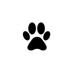 dog paw icon vector. dog paw vector graphic illustration