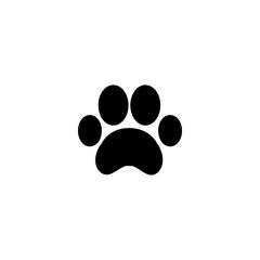 paw print icon vector. paw print vector graphic illustration