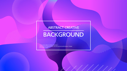 Modern shapeless abstraction on colorful vector background Wall mural