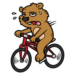 Cartoon Groundhog Character Riding a Bicycle