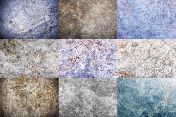 Grunge metal rustic corrosion background. Industrial scratched surface.