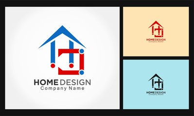 letter HD home design logo