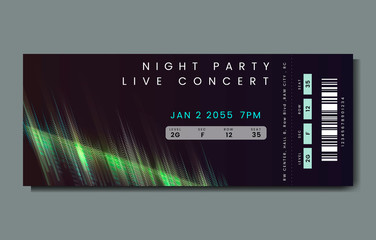 Night party live concert ticket