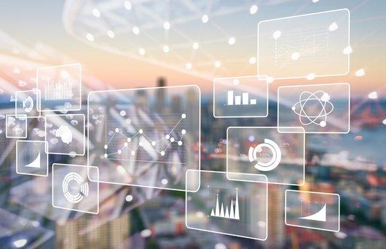 Analytics data big business intelligence background bi
