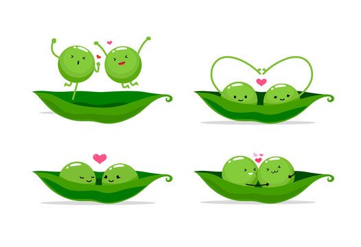 two peas in a pod. Vector illustration