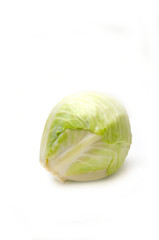 cabbage head on white background