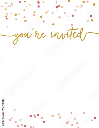 Cute Party Invitation Template You Re Invited Background Printable Invite