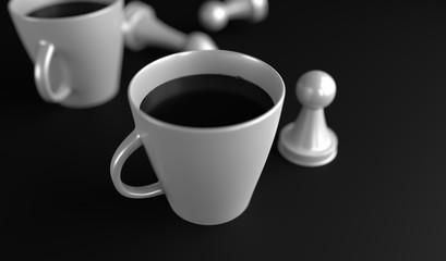 Espresso Cafe Poster (3D Render)