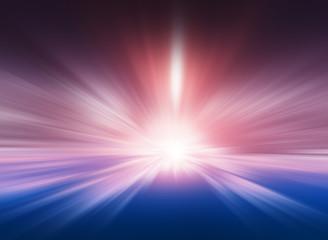 Centered pink and blue motion blur teleportation background