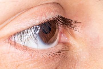 Olho humano em detalhe