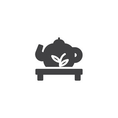 Traditional Chinese teapot vector icon. filled flat sign for mobile concept and web design. Chinese tea ceremony simple solid icon. Symbol, logo illustration. Pixel perfect vector graphics