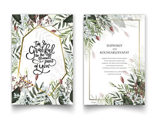 Floral frame for invitation cards and graphics.