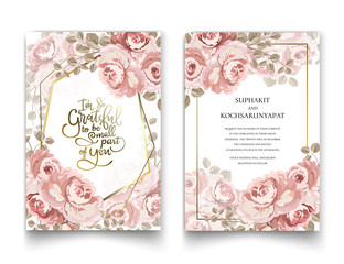 The pink roses frame for invitation cards and graphics.