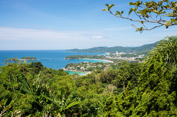 The landscape of the island of Phuket Thailand. Day 20 December 2018