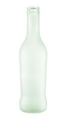empty bottle of wine isolated on white background