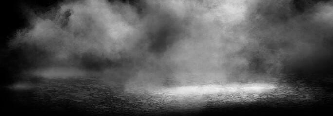 Fotomurales - Background of an empty dark room