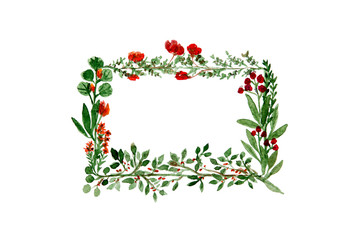 Floral Wreath In Watercolor