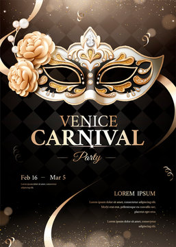 Venice carnival party poster