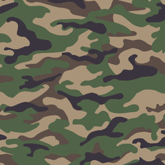Military camouflage seamless pattern green