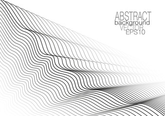 Cover layout, monochrome line art pattern. Striped design, squiggle black lines on white background. Vector abstract template for leaflet, flyer, book, poster, presentation. EPS10 illustration