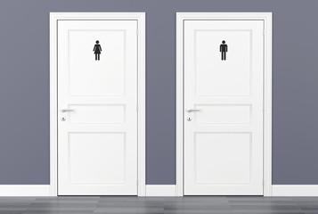 toilet wc restroom door women men