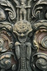 buddhistische Tempeldetails in Thailand