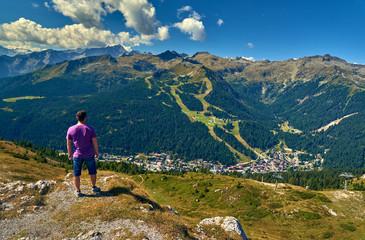 Mountains around Madonna di Campiglio Madonna di Campiglio in the summertime, Italy,Northern & Central Brenta mountain groups ,Western Dolomites, Trentino-Alto Adige, Italy