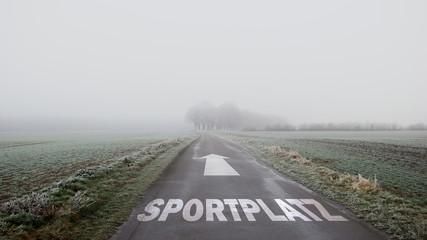 Schild 402 - Sportplatz