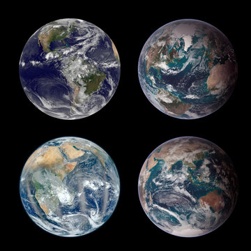 Planet Earth from space. Image elements furnished by NASA.