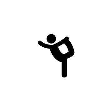 ballet icon vector. ballet vector graphic illustration