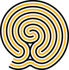 Poster Psychedelique Maze 1, Babylon
