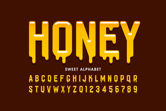 Liquid sweet honey font