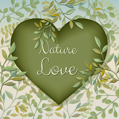Nature love, vector illustration