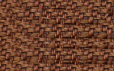 Straw, bamboo, weave texture background. Wicker pattern, rattan, brown abstract.