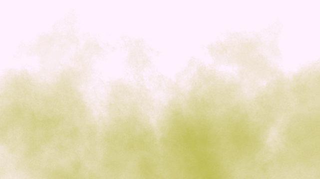 Yellow smoke on the white background. Yellow smoke brush. Yellow texture