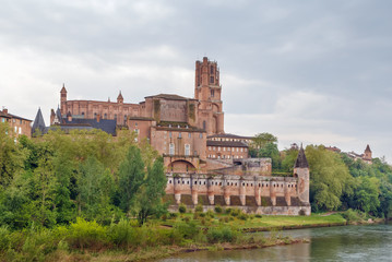 View of Albi cathedral, France
