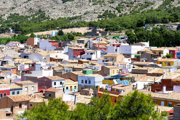 view of the town of Cartagena  Spain , LOT OF COLOR HOUSES AND ROOFS