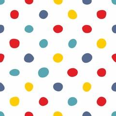 Dachówka wektor wzór z pastelowe ręcznie rysowane kropki na białym tle - 242837691