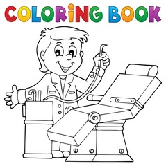 Printed roller blinds For Kids Coloring book dentist theme 1