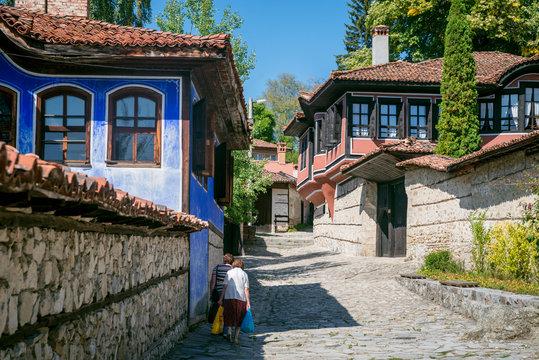 The street in Koprivshtitsa town,  Bulgaria