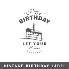Birthday label
