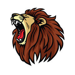 Lion Roaring Logo Design Vector