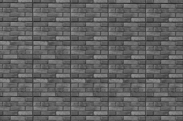 Ceramic granite tiles, brick wall background, texture with seams. Exactly geometric figures and lines for 3d graphic. Urban modern design of street facade.