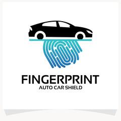 Finger Print Auto Car Logo Template Design Vector Inspiration. Icon Design