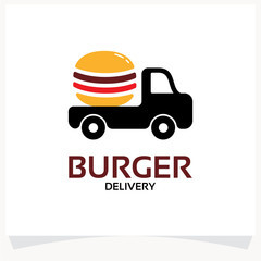 Burger Delivery Logo Template Design Vector Inspiration. Icon Design