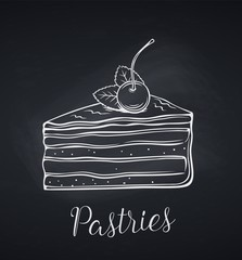 Hand drawn cake icon
