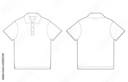 1c7be5f5 Polo t-shirt design template. Front and back vector.