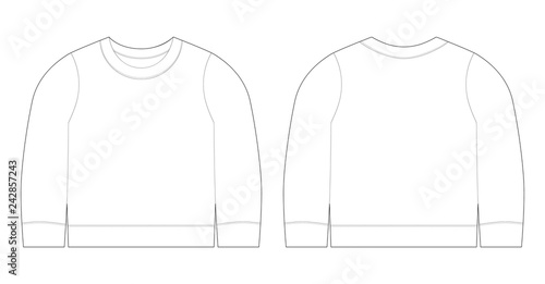 Infant T Shirt Ilration Sweatshirt Sketch Template Front And Back View