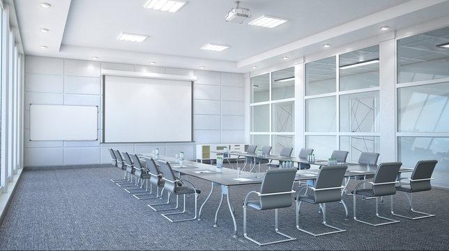 Conference room interior. 3d illustration