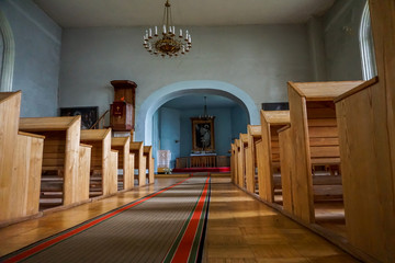 Interior of the Koknese Evangelical Lutheran Church.